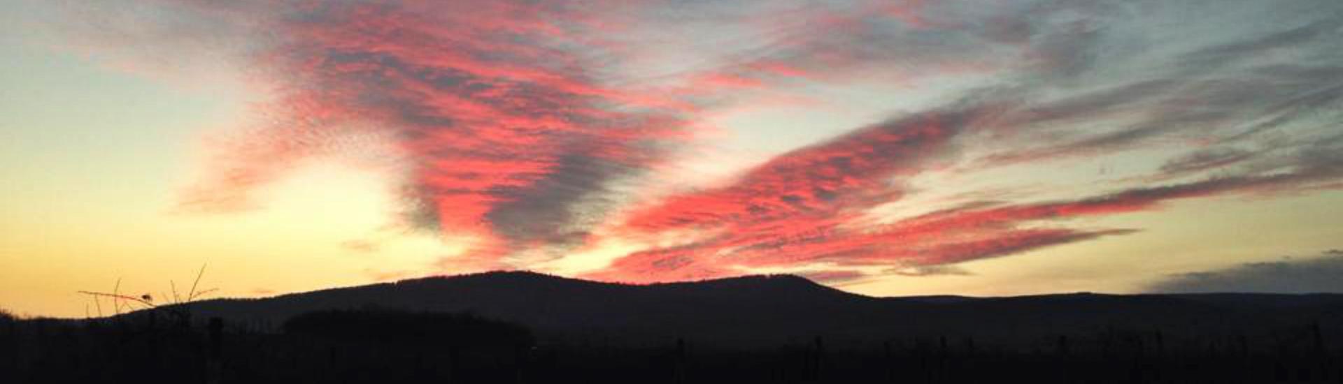 Západ slnka nad Račou
